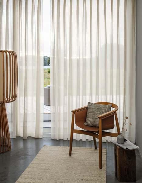 Design Vorhang Jayda I modern transparent in 23 Farben I Schallabsorbierend + Wellenvorhang