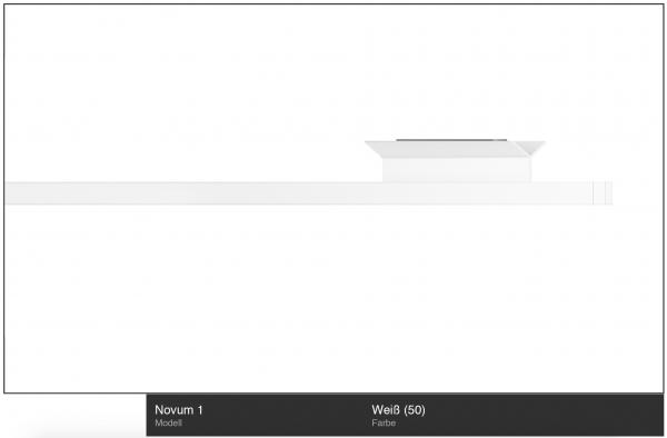 Novum 1 Innenlauf-Gardinenstange 1-läufig Weiß zur Deckenmontage von Interstil