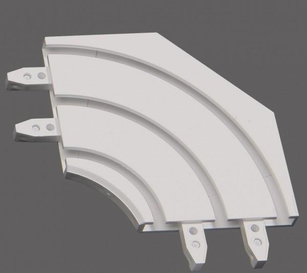 Döfix Retoure für Aluminium Gardinenschienen 2-/3-läufig