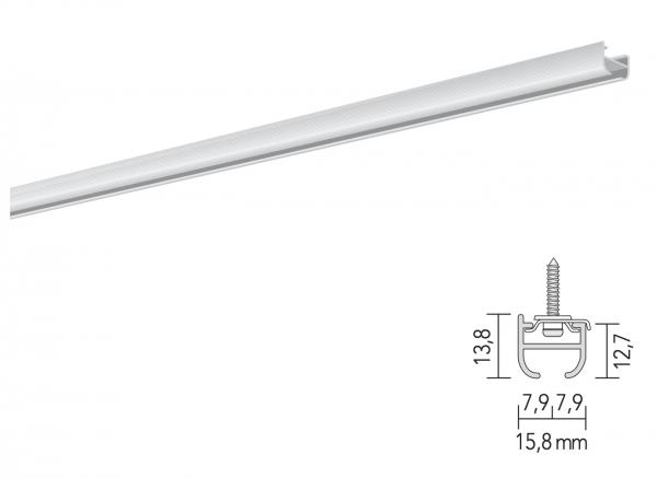 MHZ Vorhangschiene Futur 2 einläufige Schleuderschiene für leichte Vorhänge I Decke