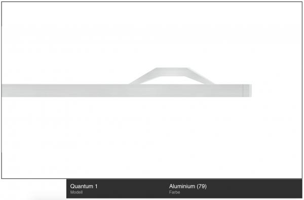 Quantum 1 Innenlauf-Gardinenstange 1-läufig Aluminium von Interstil