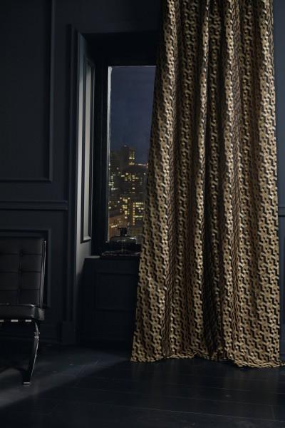 Vorhang Schal Malachit Elegant auf Maß für Vorhangschienen& Stangen