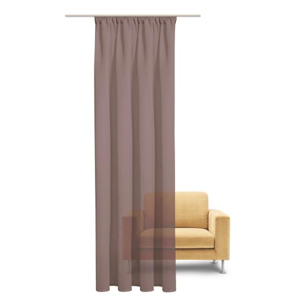 Vorhang Uni transparent, feel of nature