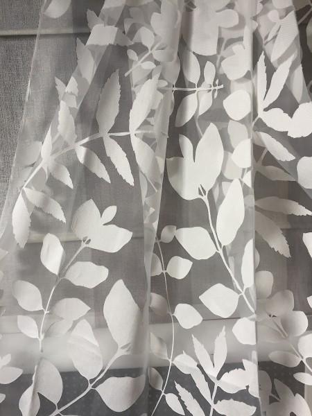 Gardine Giuliano - floraler Ausbrenner von Jab Anstoetz Fabrics