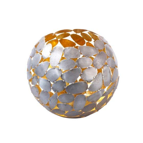 Kugelteelicht aus Metall