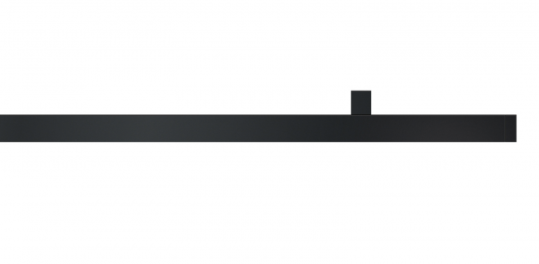 Cubus 2 Interstil Schwarze Gardinenstange modern I 1-läufig I quadratisch 20mm I Deckenmontage
