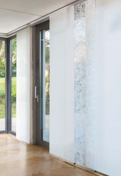 Moderner Flächenvorhang Splash Ausbrenner/Muster weiß halbransparent Jab Anstoetz