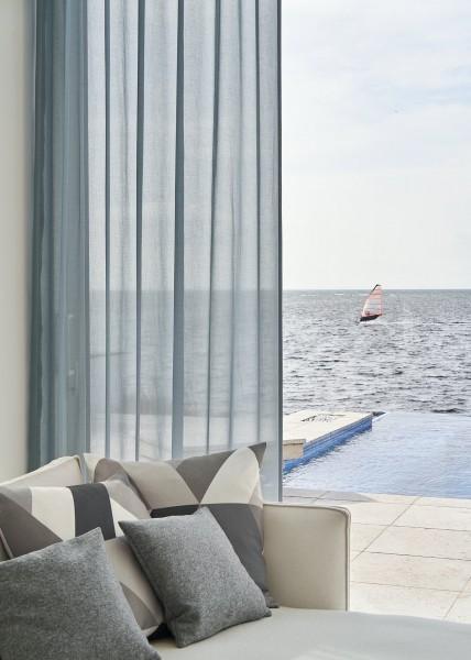 Vorhang Joana Uni transparent I moderner, leichter Batist I für Vorhangschienen & Stangen