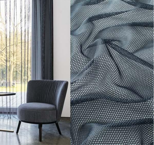 Moderner Vorhang Scooter I transparente Netzoptik/Tülloptik in Trendfarben nach Maß