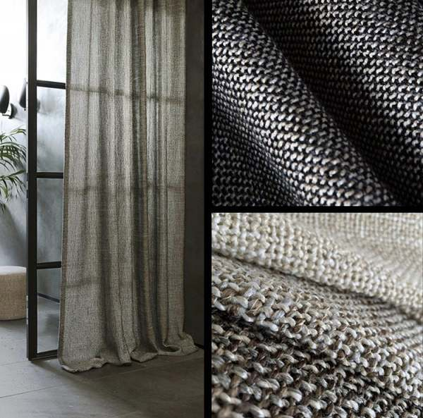 Vorhang Palermo moderne grobe Strickoptik I Skandinavisch I blickdicht I Industrial Style