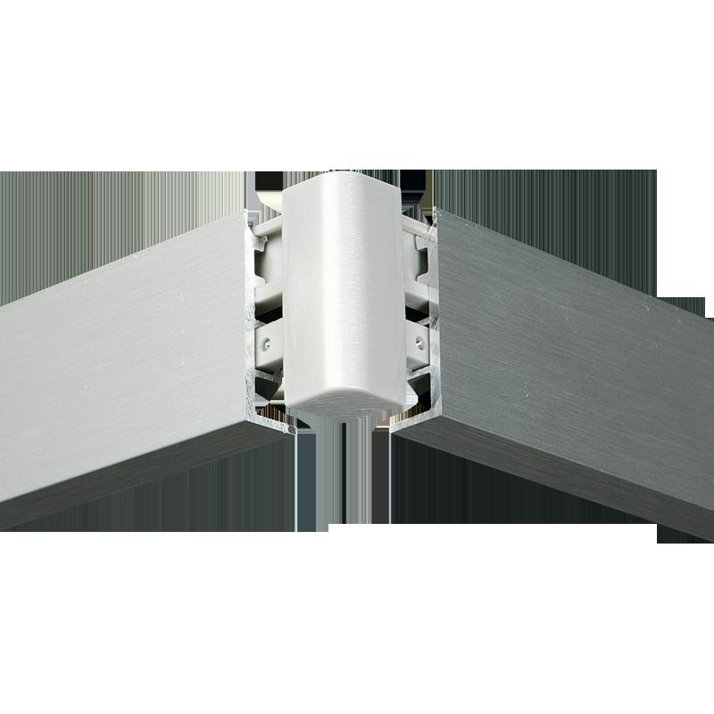 Aluminium Gardinenschiene Mit Blende I Schwarz Weiss Silber