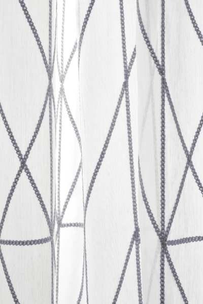 Design Vorhang Chainette grafisches Muster/ Zopfmuster jedes Wunschmaß I Kvadrat