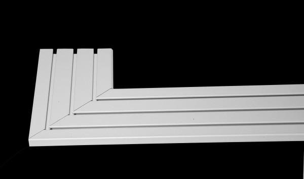 Eckverbinder für Aluminium Gardinenschienen APS von Döfix
