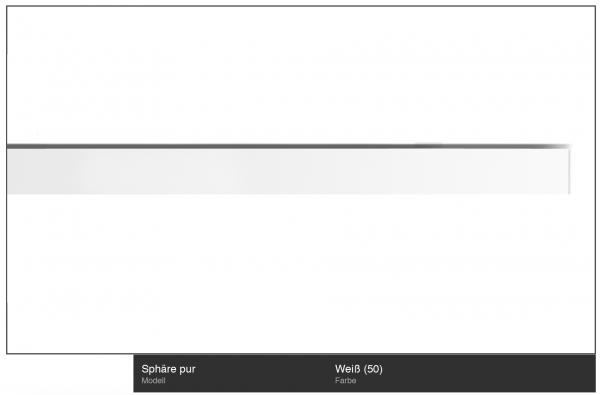 Interstil Sphäre - Innenlauf-Gardinenstange Farbe Weiß I 1-läufig I Deckenmontage von Interstil