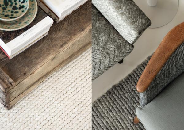 Cottage 7539 I Handgewebter Design Teppich Flechtmuster 100% Wolle by Chivasso