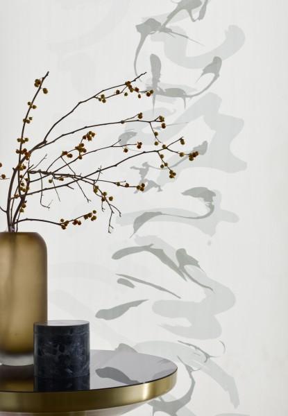 Flächenvorhang Zen Motiv Grautöne blickdicht I halbtransparent Jab Anstoetz