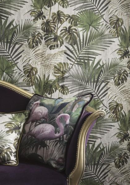 Vorhang Foresta Botanica I Jungle Blätter Botanic Leinenanteil I Wunschmaß Italian Carlucci
