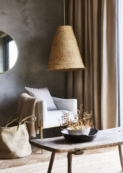 Vorhang Frame blickdicht I Jaquard mit modernem Muster I 1 Stück I für Stangen & Schienen