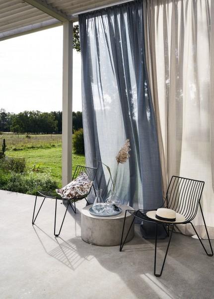 Outdoor Vorhang Wind Uni halbtransparent I Balkon, Pergola, Terasse Jab Anstoetz