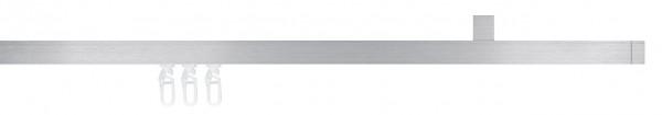 Cubus 1 Innenlauf-Gardinenstange 1-läufig I 16mm I Deckenmontage von Interstil
